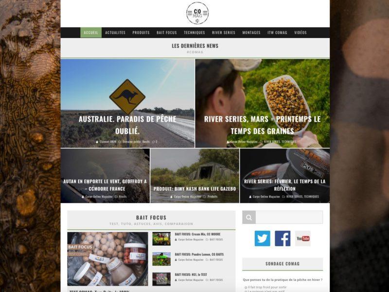 création site internet web magazine peche à la carpe